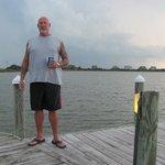 Nice pier behind Sugar Shack!