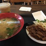 Pho with grilled pork chop