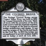 State sign concerning the bridge's history