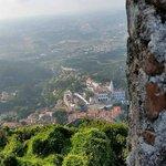 Вид от крепости на Синтру