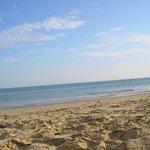 vu de la plage sur l'océan
