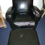 This was the chair in our room...