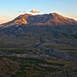 Mt. St. Helens sunset in southern Washington.
