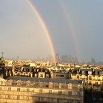 A double rainbow over Paris.