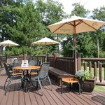ample outdoor seating