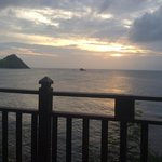 Pigeon Island at sunset
