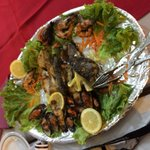 Grilled mix seafood
