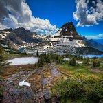 Bearhat Mountain and Hidden Lake, at Logan Pass, GNP