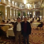 At the restaurant of Vidago Palace Hotel in Northern Portugal