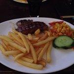 €9 deal. Steak, chips & salad. Standard.