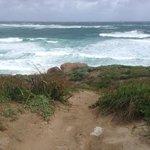 rugged coast on a wild day