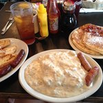 French toast, biscuits and gravy, and a short stack were all delicious choices.