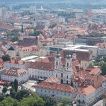 A view over beautiful Graz from the Schlossberg