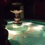 Soaking pool after it's closed to the public. Much quieter after 10pm when it's guests only.