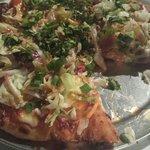 Thai pizza is amazing