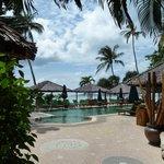 Atmanjai pool to the sea beyond.