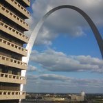 View of Arch from window