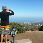 James at the top of Mt. Soledad on a picture taking break!