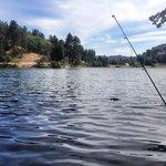 Fishing at Lake Gregory