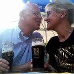Romantic moments over beer