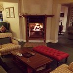 Fireplace area at the bar..