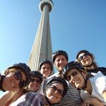 A stop in front of the CN Tower