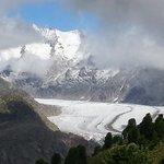 Aletschgletscher von Hohfluh gesehen