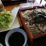 明日葉の天ぷら付お蕎麦