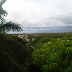 View from the top balcony, storms at sea