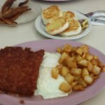 Breakfast selection with eggs/corn beef hash/homefries and biscuit....mmmmmm mmmmmm!