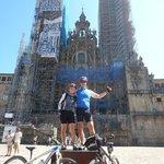 In front of Santiago de Compostela Cathedral