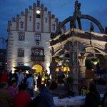 Hammelburger Marktplatz bei Nacht
