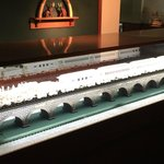 An ebony and ivory carved train from the Warther Museum