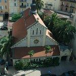 The church opposite the Mediterranee