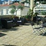 Roof sun lounge area