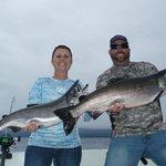 Salmon fishing with AAA Sport Fishing Co.
