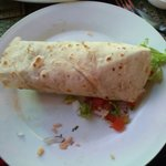 Burritos come in pairs...but I was so eager to eat that one disappeared!
