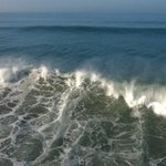 Big surf in Huntington Beach