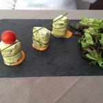 Maki de courgette au fromage frais