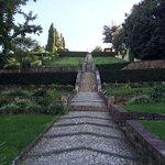 terraced garden path
