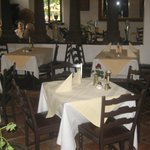 The restaurant's interior.