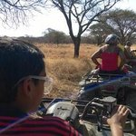Qaud bike ride at the game reserve