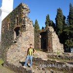 David nas ruínas do Convento de San Francisco.