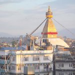 Stupa view from top floor of the hotel