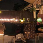 Quaint decor with outdoor seating