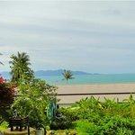 Vue imprenable sur la mer et la plage de bophut