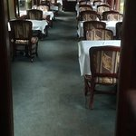Restored interior or CPR dining car - for special occasion
