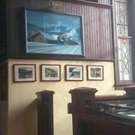 The feel of the old station has been maintained by pictures and decore
