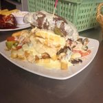 THE cheese steak stack!