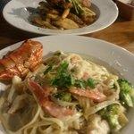 Fried Chicken & Lobster Pasta